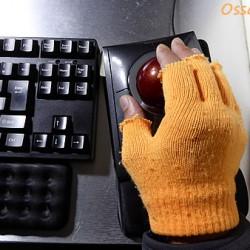 笑ってやってください PC操作の冬支度 おててヌクヌク編