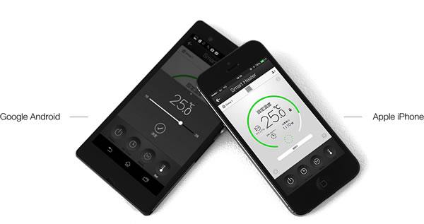 バルミューダのSmartHeater2のアプリ画像