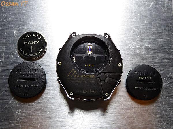 X-LANDERの電池蓋の新旧