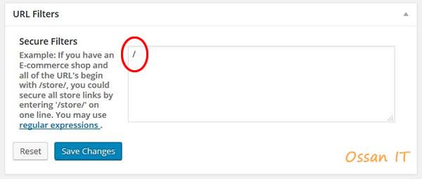 「WordPress HTTPS」というプラグインの設定画面その2