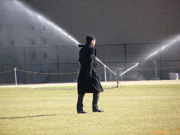 2006年1月3日の初練習の際の平尾氏の後ろ姿