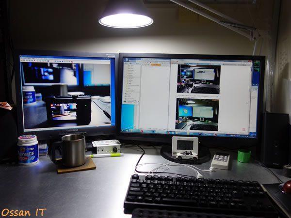 RX100で管理人のデスクトップを撮った画像