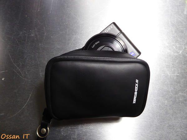 RX100を一番小さなケースに入れたところ