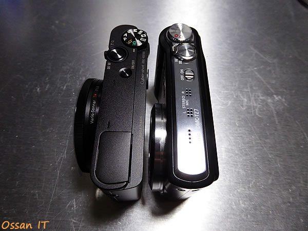 RX100と以前使っていたTZ7とのサイズ比較その2