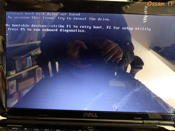 落下したINSPIRON1545のブート画面