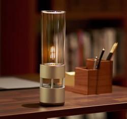 最近のアクティブスピーカーって面白い 電球型というか灯りと一体になってる