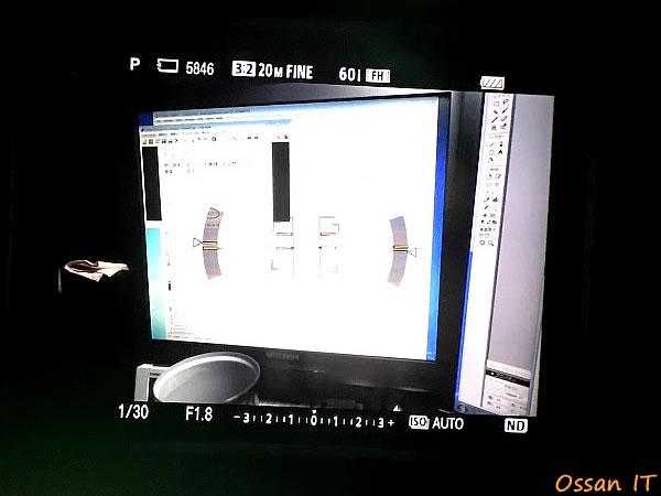 RX100M3のファインダーから覗いたところをiPhoneで撮ってみた