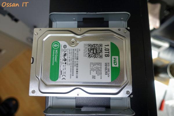 もともと付いていたHDDはこれまたWDの今はなきグリーンラベル
