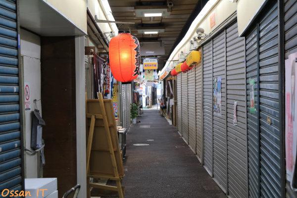 久しぶりに宝塚の清荒神へ行ってきた、清荒神市場の通路にて、EF24-105