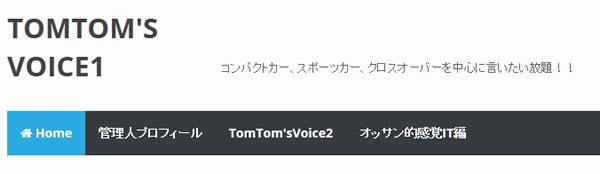 「CSS TUTS」を適用した「TomTom's Voice1」